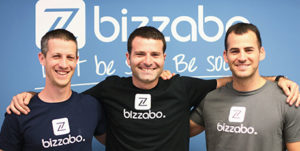 Bizzabo founders: Boaz Katz (left), Eran Ben-Shushan (center), Alon Alroy (right)