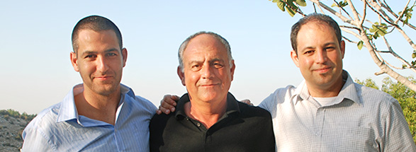 "Cofounders Omri ""Bob"" Shor and Rotem Shor, and their father"