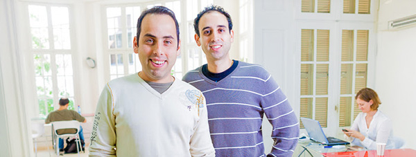 The founders of Parko: Itai David and Tomer Neuner (from left to right)